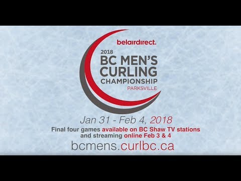 2018 BC Men's Curling Championship Page 3 vs 4 - Montgomery
