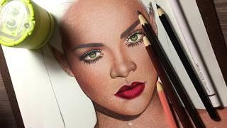 COMO PINTAR PELE MORENA/ NEGRA - Colorindo a Pele da Rihanna