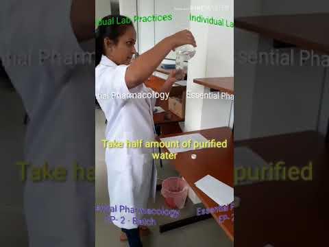Preparation Of Chloroform Water BP