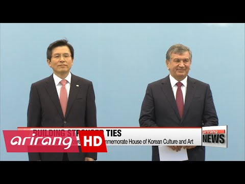 Korean PM Hwang attends ceremony to commemorate House of Korean Culture and Art in Uzbekistan