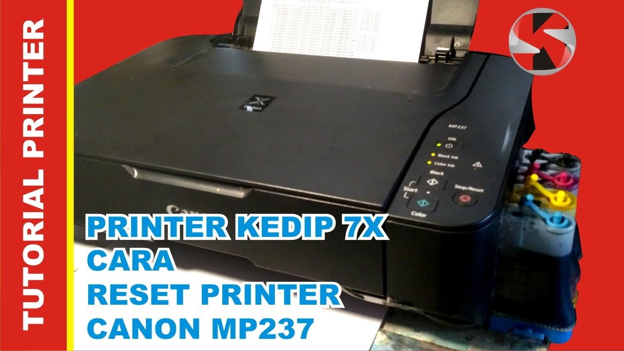 Cara reset printer canon mp237 (mudah) - YouTube