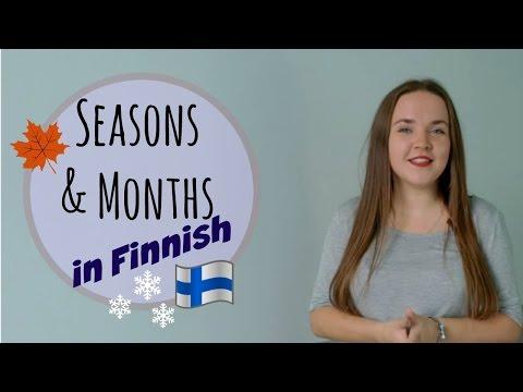 Finnish lesson 15. Seasons, months. (ft.Miljoonasade, Jenni Vartiainen, Arttu Wiskari). Финский.