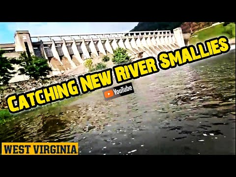 SMALL MOUTH BASS FISHING BELOW THE BLUESTONE DAM-NEW RIVER (HINTON,WV)