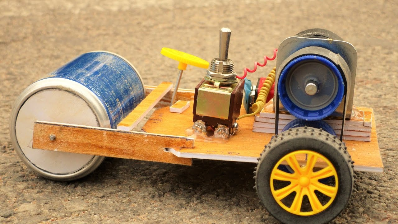 How to make a road Making Machine at Home – Road Roller