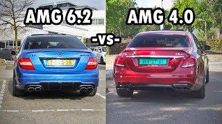 AMG 6.2 V8  -vs-  AMG 4.0 V8 (Sound Comparison)