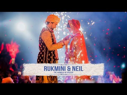 The Wedding Varmala of bollywood actor Neil Nitin Mukesh and Rukmini Sahay in Udaipur, India
