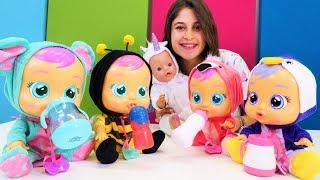 Cry Baby ve Baby Born oyuncak bebekler ile hayvanları öğren! Oyuncak kreşi yeni