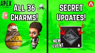 SECRET Patch 3.2 UPDATES! New OFFICIAL EVENT LEAK + All 36 New Charms! Apex Legends Update