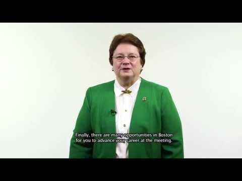 2015 ACS President Diane Grob Schmidt's Invitation To The ACS National Meeting In Boston