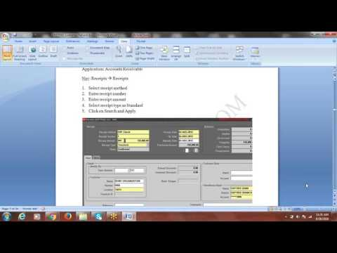 Oracle Financials Online Training - AR: Customer Refund Process