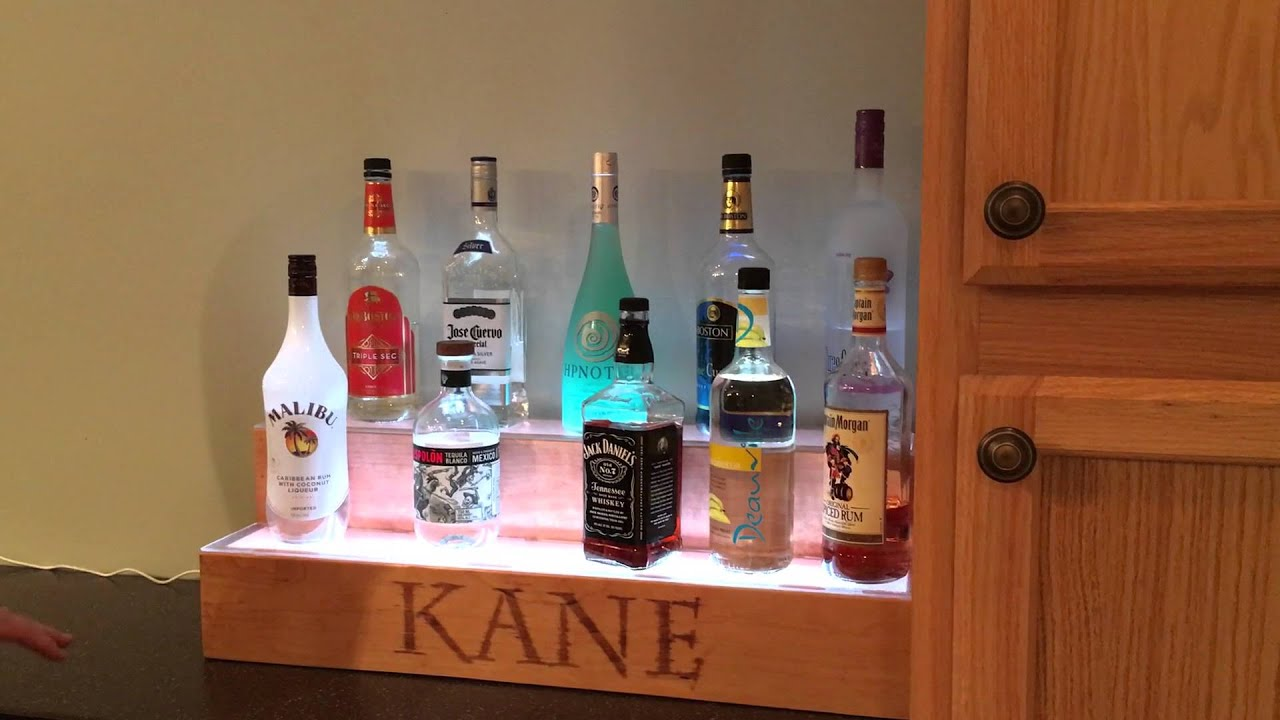 diy led liquor shelf youtube