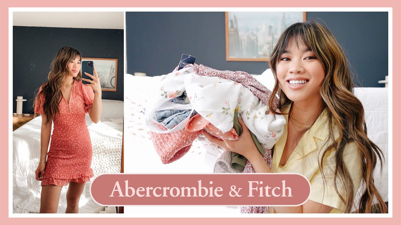 Download Abercrombie & Fitch Spring Try On Haul // trying on over $400 of clothes! dresses, shorts, tops, etc