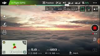 DJI Mavic Pro Platinum (Fog over 2019.12.07 telephone recording). 500M 1640ft