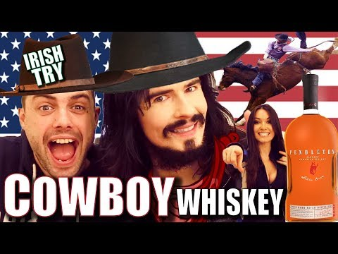 Irish People Taste Test American 'COWBOY WHISKEY' + RODEO FOOD!!