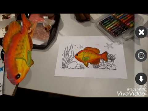 Mewarnai Ikan Dengan Hasil 3d Youtube