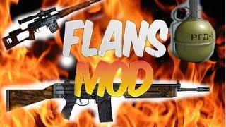 Обзор модов #8 [Flans mod] часть 2 снайперские винтовки, гранаты