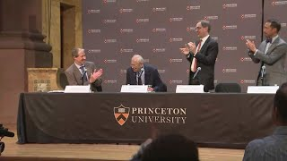 Princeton University Holds Press Conference After Professor Wins Nobel Prize In Physics