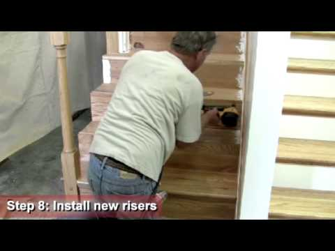 Retrotread® Installation Open Stairway Young Manufacturing   Prefinished Stair Treads Home Depot   Stair Parts   Natural Maple   Risers   White Oak Stair   Unfinished Maple