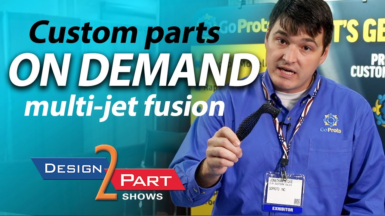 Custom Manufactured Parts On Demand - Multi Jet Fusion - GoProto