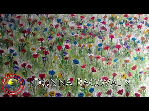 Fun mixed media painting techniques and tutorial with Donna Racovalis on Colour In Your Life