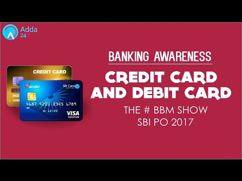 SBI PO 2017 | Banking Awareness | Debit Cards & Credit Cards