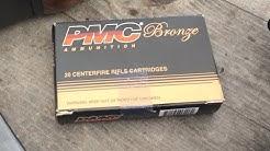 ".223 Remington, 55gr FMJ (223A) PMC Bronze, Velocity Test, 20"" Barrel"