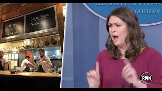 BREAKING CNN NEWS TRUMP-Sarah Sanders Told To Leave Restaurant Because Of Trump