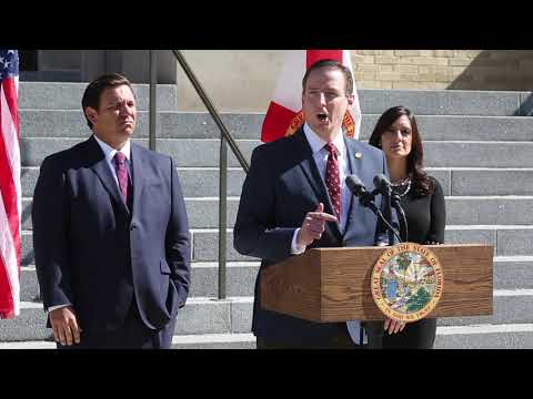 Video: Sec. of State Mike Ertel being introduced by Gov. DeSantis.