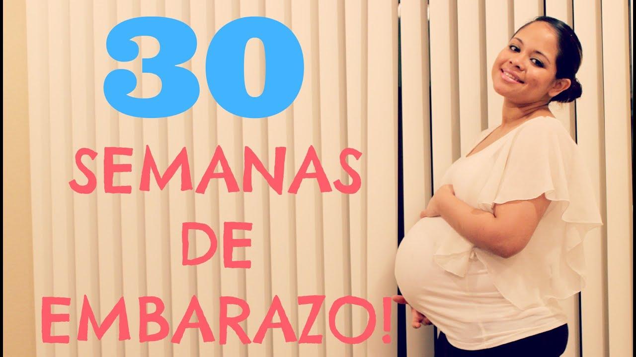 30 semanas de embarazo 7 meses de embarazo tercer trimestre 30 weeks pregnant youtube - De cuantos meses estoy ...