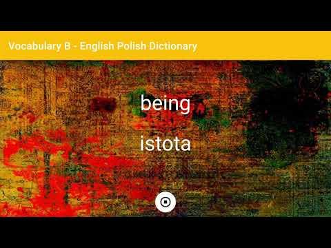 English - Polish Dictionary - Vocabulary B