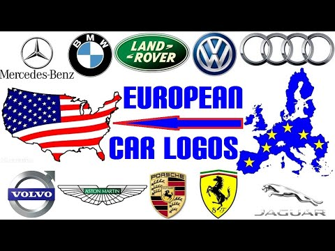 Top 10 European Car Brands in the USA - Logos Drawn by Simple Easy Art