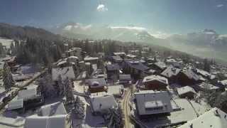 Villars-sur-Ollon, Suisse vu du ciel