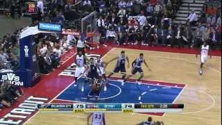 Luigi Datome - Oklahoma City Thunder @ Detroit Pistons (Nov 8, 2013)