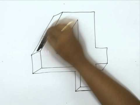how to draw 3d youtube