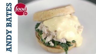 Crabs Benedict on an English Breakfast Muffin - Andy Bates