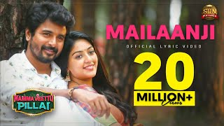 "Namma veettu pillai running successfully in theaters. book your tickets now. the official lyric video of ""mailaanji"" - second single from movie ""namm..."