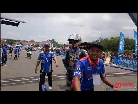 Yamaha Cup Race 2018 Semarang: Race YCR1 Tarzan Juara.  Pertarungan sengit Rere dan Fadhil Crash