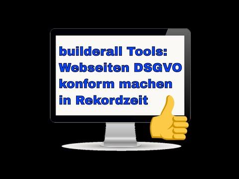 builderall Tools - Webseiten DSGVO konform machen in Rekordzeit