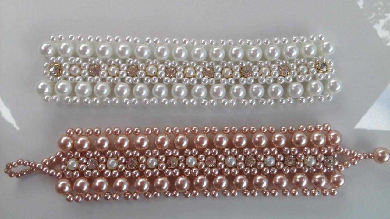 ff01ad68b07 Bracelete de pérolas e strras!! - YouTube