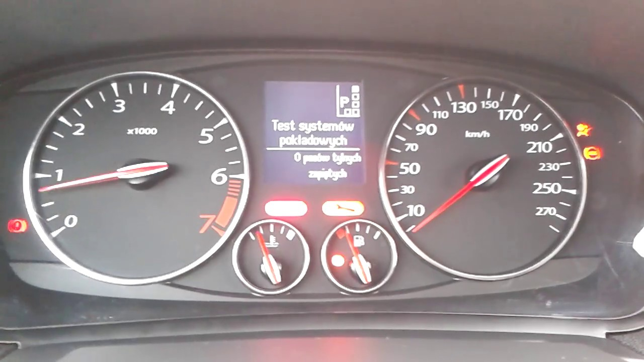 Test Zegarów Renault Laguna Iii 20t Start Up