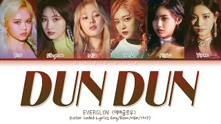 Gambar cover EVERGLOW (에버글로우) - DUN DUN (Color Coded Lyrics Eng/Rom/Han/가사)