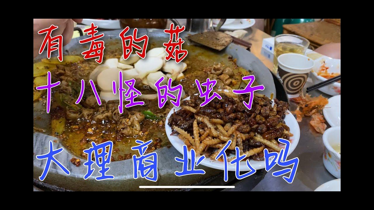 为啥云南的野生菌不能养殖?中国吃虫子最多的省份,中国旅游商业化吗?(吃喝自嗨的一段视频,音质很差,慎入:)
