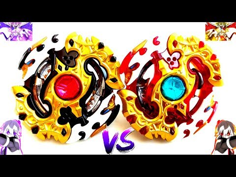 BLACK SPRIGGAN vs SPRIGGAN REQUIEM - Dark Shu vs Shu - Beyblade Burst God Evolutionブラックver.