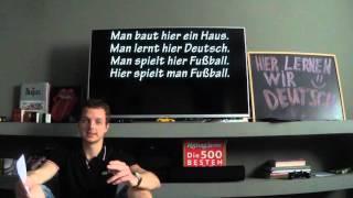 Урок 25.1: Безличное местоимение MAN! Немецкий для начинающих