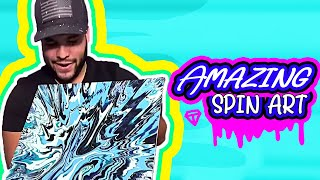 Spin Art With A Drill! Results Are Amazing! #Shorts #YouTubeShorts