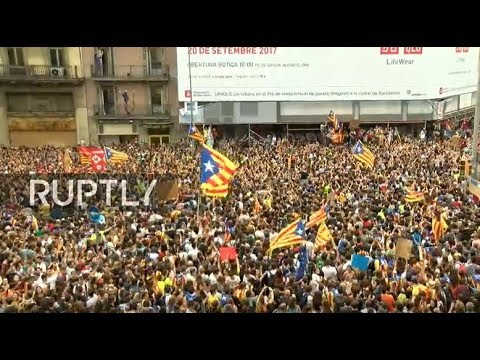 LIVE: Protest against Spanish government hits Barcelona
