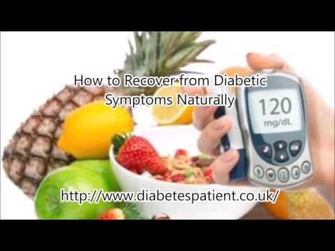 How to Recover from Diabetic Symptoms Naturally without insulin injections