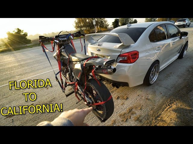 HOW TO TOW A SUPERMOTO BEHIND A CAR!