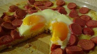 Пицца за 5 минут.Рецепт быстрой пиццы. Идея простого завтрака.