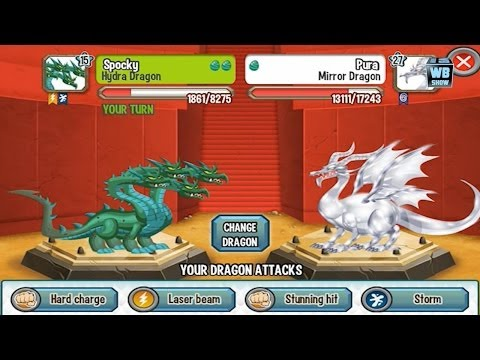 Dragon City: Hydra Dragon Battle & Skills